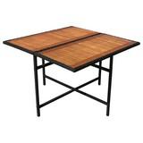 Gartentisch Faro - Schwarz/Braun, Basics, Holz/Kunststoff (110/110/75cm) - Ambia Garden