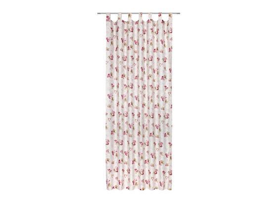 Kombivorhang Rosmarie - Rosa/Weiß, ROMANTIK / LANDHAUS, Textil (140/255cm) - James Wood