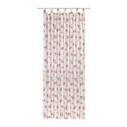 Vorhang mit Schlaufen und Band Rosmarie B: 140cm, Rose - Rosa/Weiß, ROMANTIK / LANDHAUS, Textil (140/255cm) - James Wood