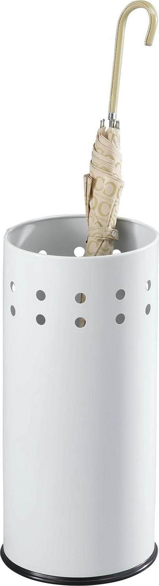 Esernyőtartó Lonati - fehér, modern, fém/faanyagok (23,5/50cm)