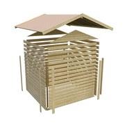Gartenhaus Terragrau 246x209x246 Lene 4 - Grau, MODERN, Holz (246/209/246cm)