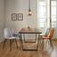 Židle Lio - černá/světle šedá, Moderní, kov/dřevo (43/86/55cm) - Modern Living