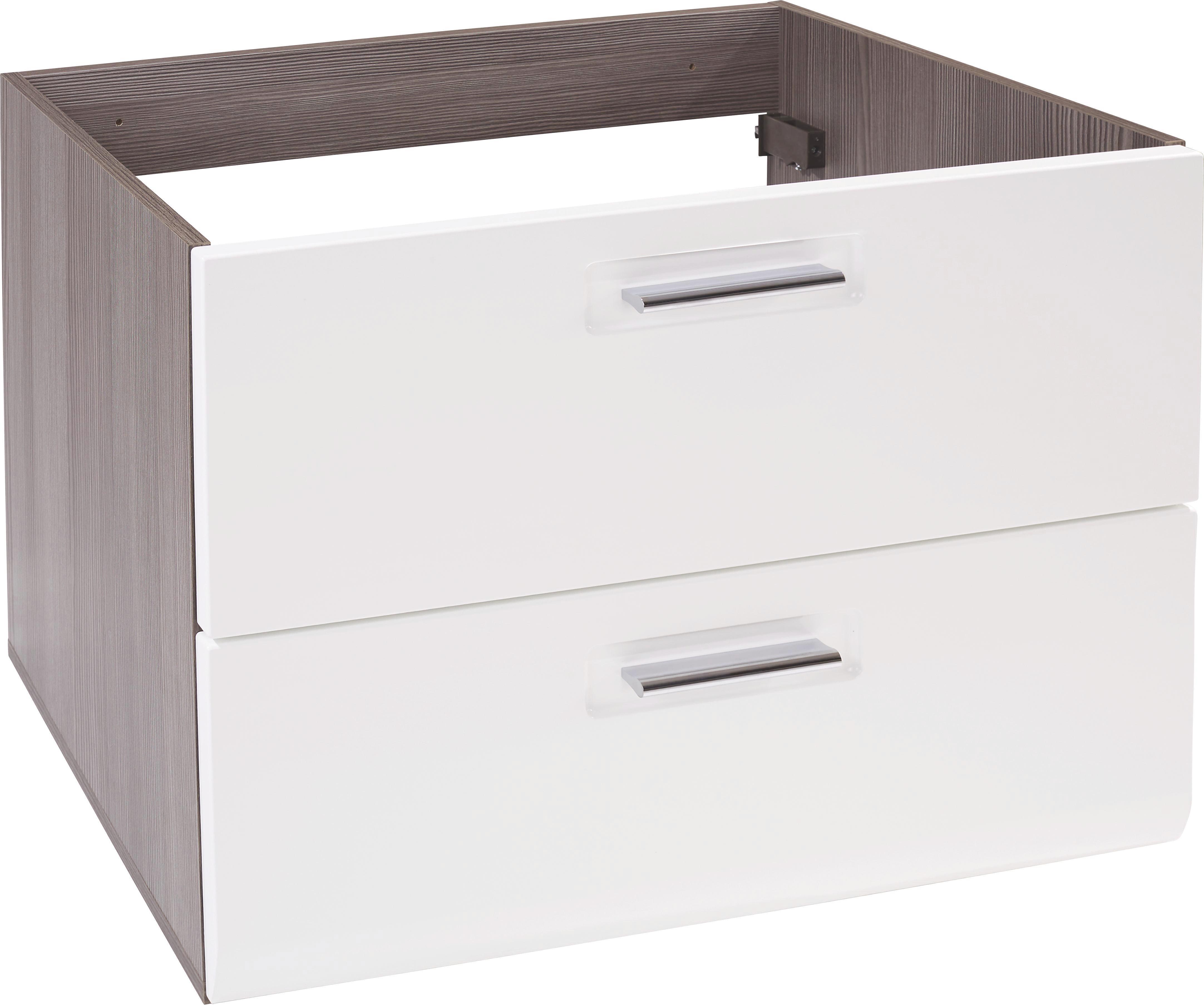 Element Ispod Umivaonika Element Ispod Umivaonika - bijela/boje hrasta, Moderno, drvni materijal (75/53/45cm) - LUCA BESSONI