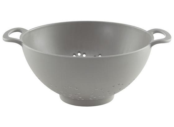Síto Kuchyňské Solveig - šedá, Moderní, kompozitní dřevo/přírodní materiály (29,7/12cm) - Premium Living