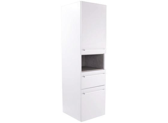 Midi Skříňka Techno - bílá, Moderní, kompozitní dřevo (40/140/40cm)