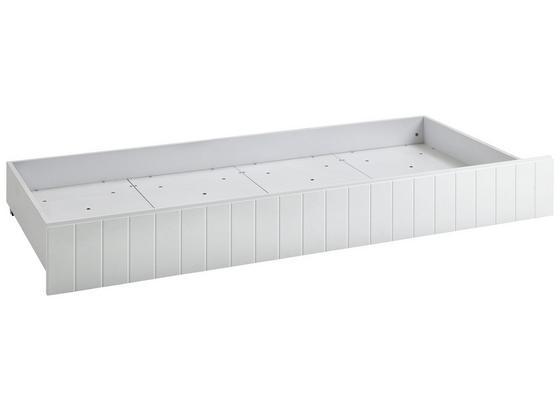 Bettschubkasten Luka 199 cm Weiß - Weiß, KONVENTIONELL, Holzwerkstoff/Kunststoff (199/16/94cm)