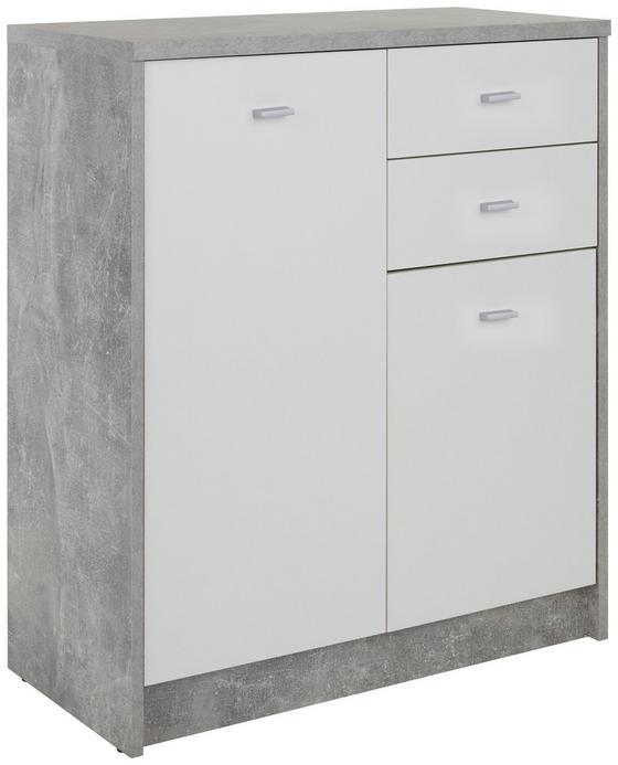 Kommode 4-You New YUK04 - Schwarz/Weiß, MODERN, Holzwerkstoff (74/85,4/34,6cm)