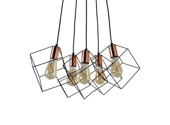 Svítidlo Závěsné Amana 48/147,5cm, 60 Watt - černá, Lifestyle, kov (48/147,5cm) - Premium Living