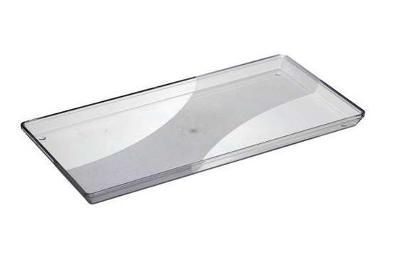 Serviertablett Kunststoff - Naturfarben, KONVENTIONELL, Kunststoff (18/2.2/34cm)