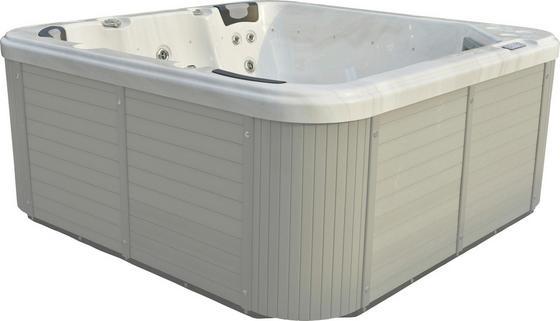 Whirlpool Acryl Capri 216 X 92 X 216 cm - Weiß/Grau, KONVENTIONELL, Holz/Kunststoff (216/92/216cm)