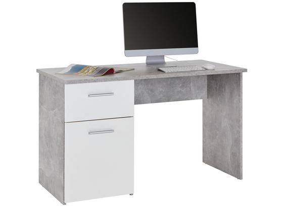 Schreibtisch In Betonoptik Und Weiss Online Kaufen