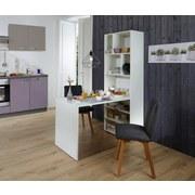 Tisch-Regal-Kombination Breakfast 70 cm Weiß - Weiß, KONVENTIONELL, Holzwerkstoff (137/190/70cm)