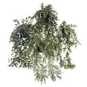 Kunstpflanze Tito - Schwarz/Grün, MODERN, Kunststoff (50cm) - Luca Bessoni
