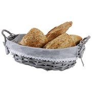 Brotkorb Bakery - Grau, Basics, Naturmaterialien/Textil (29/9/20cm)