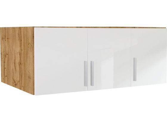 Nadstavec Na Skriňu K 3-dverovej Skrini, Dub Wotan - farby dubu/biela, Moderný, drevo (136/40/54cm)