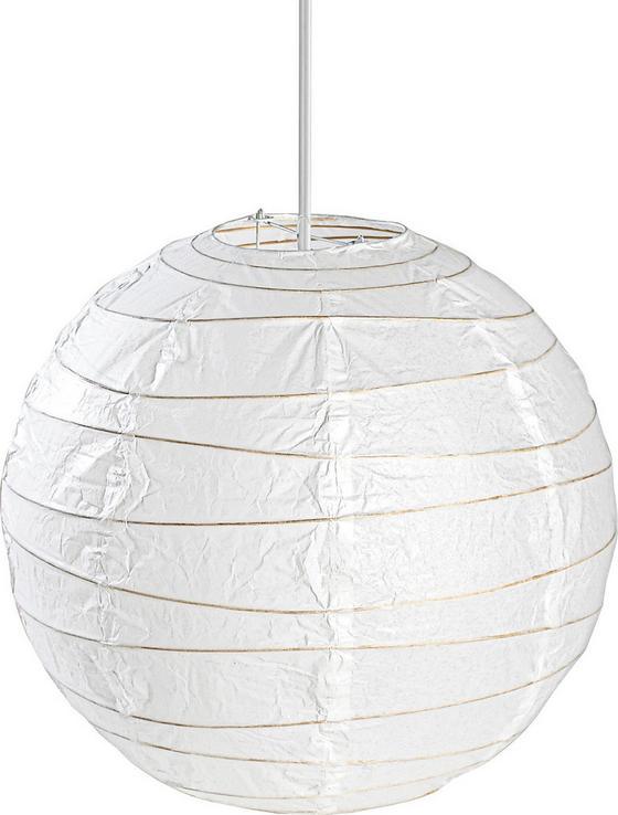 Leuchtenschirm Mia - Weiß, KONVENTIONELL, Papier (40cm) - Ombra