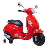 Kindermotorrad Ride-On Vespa Gts 125 Rot - Rot/Silberfarben, Basics, Kunststoff (101/45,5/76cm)
