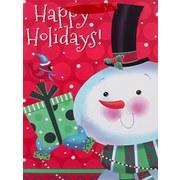 Geschenktasche Frosty Men - Rot/Silberfarben, Basics, Karton (30/40/12cm)
