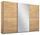 Schwebetürenschrank Belluno 271 cm Eiche/spiegel - Sonoma Eiche, MODERN, Holzwerkstoff (271/210/62cm)