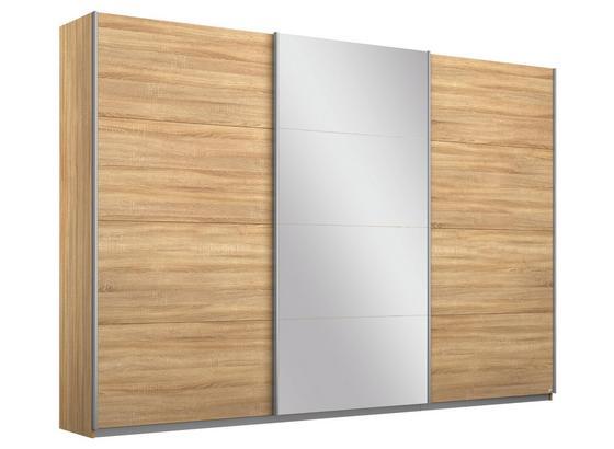 Schwebetürenschrank mit Spiegel 271cm Belluno, Eiche Dekor - Sonoma Eiche, MODERN, Holzwerkstoff (271/210/62cm)