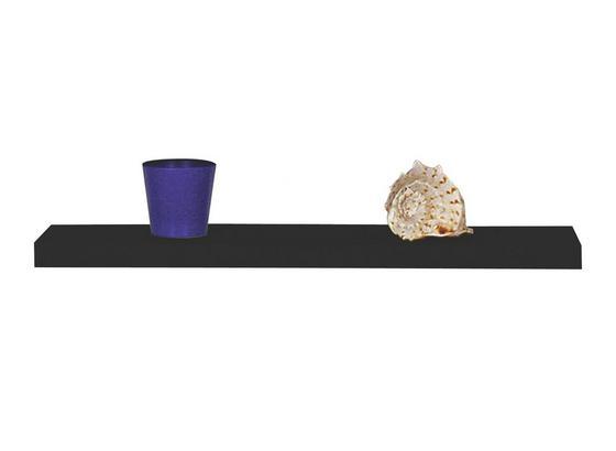 Nástěnná Police 50 Cm - černá, Moderní (50/4,4/26cm)