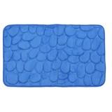 Badematte Rihanna - Blau, MODERN, Textil (50/80cm) - Luca Bessoni