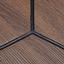 Konferenčný Stolík Henrik - čierna/farby orechu, Basics, kov/drevo (60/51cm) - Modern Living
