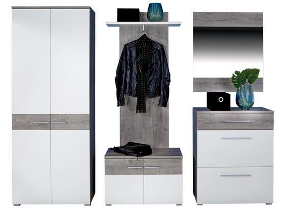 Odporúčaná Kombinácia Skrine Monza New 1 - farby dubu/biela, Moderný, kompozitné drevo
