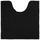 Wc Předložka Nelly -top- - černá, textil (50/50cm) - Mömax modern living