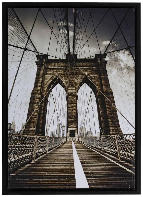 Obraz Denise - čierna/viacfarebné, Moderný, drevený materiál/papier (71/98,5/4cm) - MÖMAX modern living