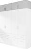 Nástavec Na Šatní Skříň Ke 4-dv. Skříni Celle - bílá, Moderní, dřevo (181/40/54cm)