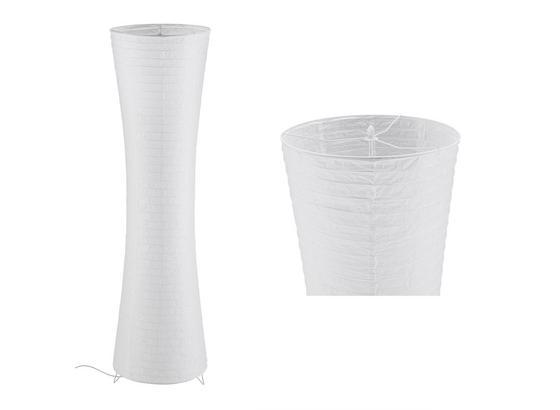 Stojacia Lampa Tobias V: 130cm, 60 Watt - biela, Konvenčný, kov/papier (36/130cm) - Mömax modern living