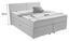Boxspringbett Tina 180x200 Hellgrau - Hellgrau, KONVENTIONELL, Textil (180/105/200cm)