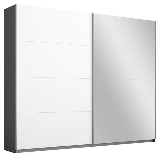 Schwebetürenschrank Belluno 226 cm Grau/Weiß/sp. - Dunkelgrau/Weiß, MODERN, Holzwerkstoff (226/210/62cm)