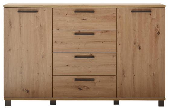 Kommode Orlando 150 cm Eiche - Eichefarben/Anthrazit, MODERN, Holzwerkstoff (150/95/38cm)