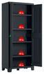 Geräteschrank Moby Hoch 80/182/44 - Anthrazit, MODERN, Kunststoff (80/182/44cm)