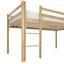 Vysoká Posteľ Z Masívu Toby - číra, Moderný, drevo (207/218/110cm)