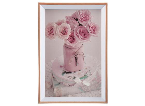 Rám Na Fotky Mara - ružová, plast (11,1/16,1/1,8cm) - Modern Living