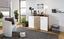 Komoda Leon Pl03 - farby dubu/biela, Moderný, kompozitné drevo (120/92,3/40cm)