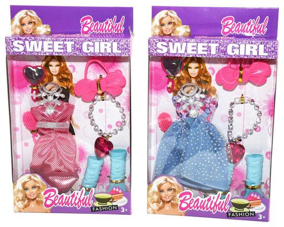 Puppenbekleidung Sweet Girl - Multicolor, KONVENTIONELL, Kunststoff/Textil