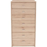 Komoda 4-you Yuk11 - bílá/tmavě hnědá, Moderní, dřevěný materiál (50/111,4/34,6cm)