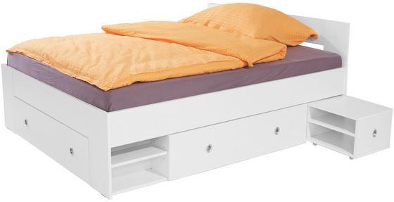 Stauraumbett 140x200 mömax  Bett Azurro 140x200 Weiß online kaufen ➤ Möbelix