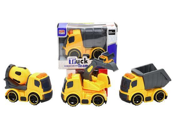 Spielfahrzeug Baustellenfahrzeuge - Gelb/Grau, Kunststoff (10,5/7,0/5,5cm)