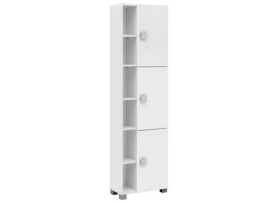 Hochschrank Edia B: 44,9 Weiß - Chromfarben/Weiß, MODERN, Holzwerkstoff (44,9/167,6/23,3cm) - MID.YOU