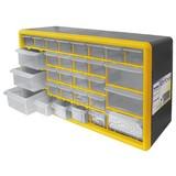 Werkstattschrank mit 30 Laden - Gelb/Schwarz, MODERN, Kunststoff (50/25/16cm)