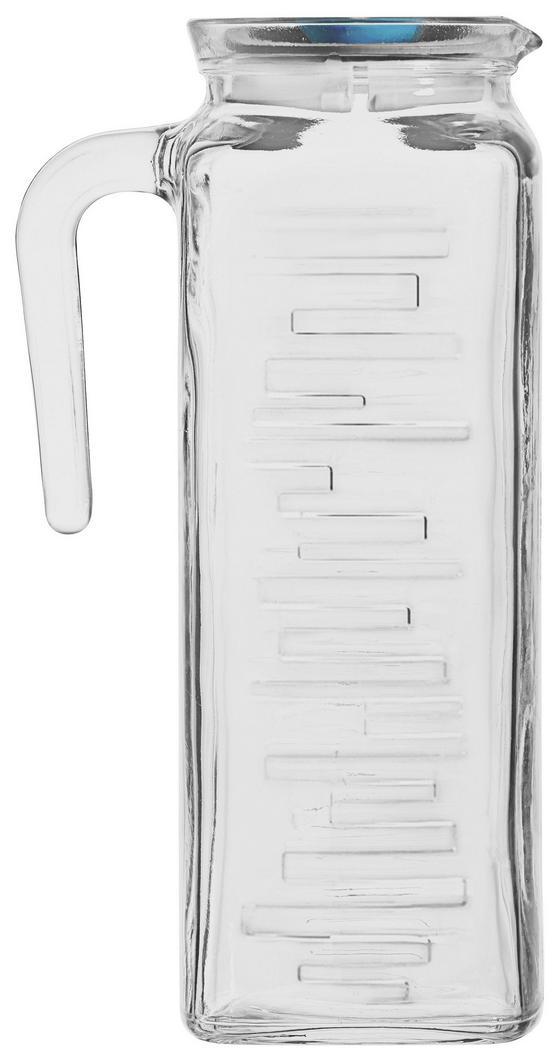Saftkrug Felipa - Klar/Rosa, KONVENTIONELL, Glas/Kunststoff (1,2l) - Ombra