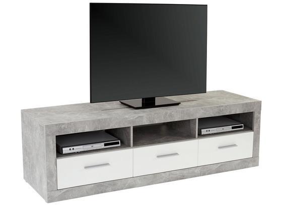 Tv Díl Malta - šedá/bílá, Moderní, kompozitní dřevo (185/50/42cm)