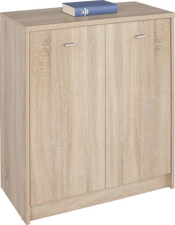 Komoda 4-you Yuk03 - barvy dubu, Moderní, dřevěný materiál (74/85,4/35,2cm)