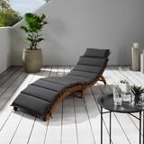 Lehátko Bora - černá, Moderní, dřevo/textilie (186/54/56cm) - Modern Living
