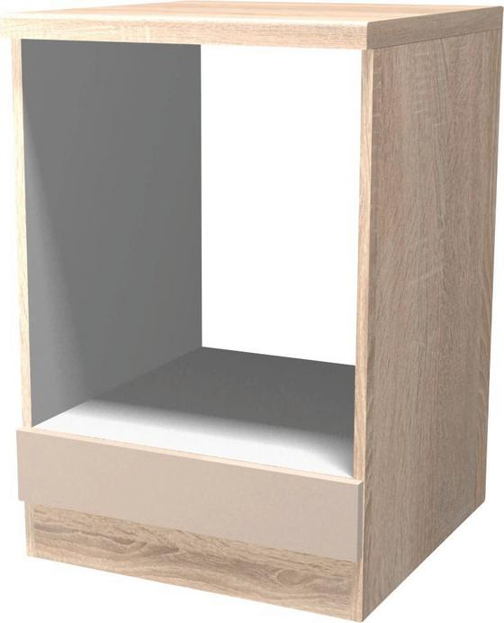 Szekrény A Beépíthető Sütőnek Nepal - bézs, modern, faanyagok (60/86/57cm)